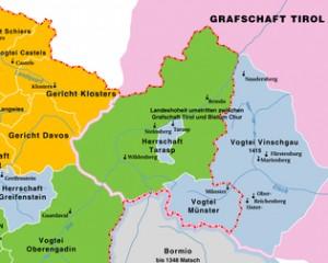 Unterengadin als Teil der Grafschaft Tirol