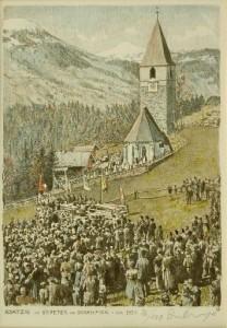 Bsatzig im Schanfigg: in St. Peter, kurz nach 1935