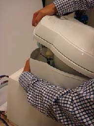 Toiletten oberer Teil