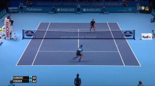 Satzball für Federer zum 7 : 5